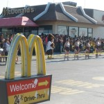 Zapata, Texas - Pep Rally at McDonalds